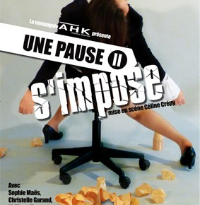 christelle garand - Une pause s'impose, s'impose !  pause simpose affiche