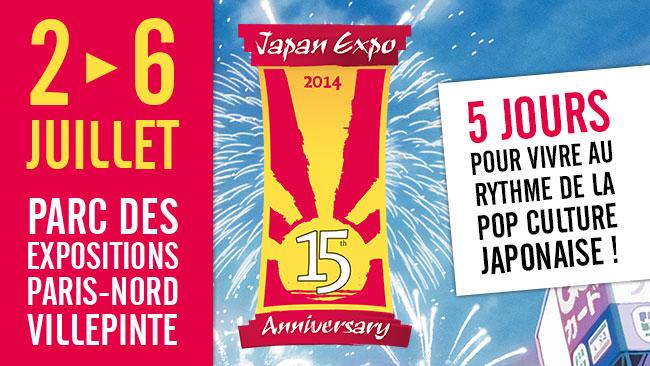 japan expo 2014 - Japan Expo 2014 : 15 ans et pas près de grandir ? Affiche Japan Expo 2014 15 ans