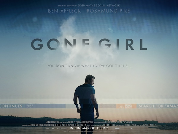 Les Apparences / Gone Girl de Gillian Flynn par David Fincher au cinéma le 8 octobre