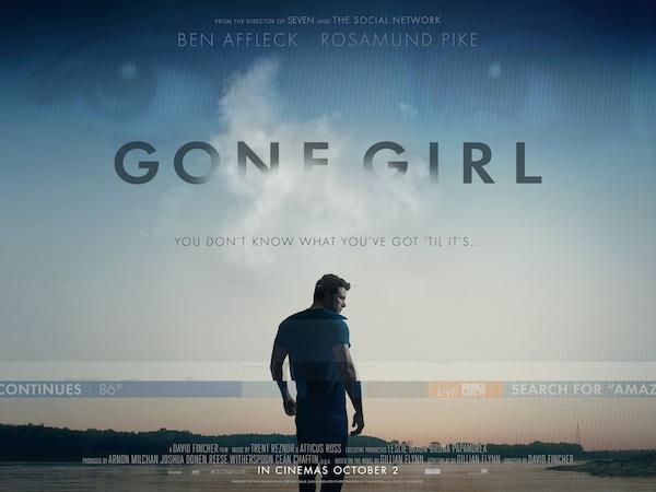 apparences - Les Apparences / Gone Girl de Gillian Flynn par David Fincher au cinéma le 8 octobre Gone Girl 2014 film poster