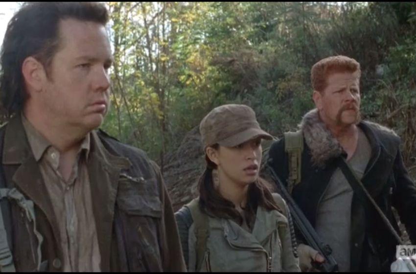 saison 5 - The Walking Dead 5x05 : Self Help us eugene rosita and abraham watch glenn run off