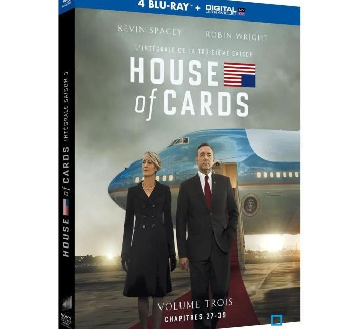 MillionThings - CONCOURS TERMINE : gagnez la saison 3 de HOUSE OF CARDS en blu-ray blu ray coffret house of cards saison 3