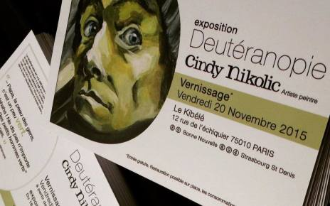 Cindy Nikolic - Deutéranopie, expo au Kibélé, Paris 10 : regards perdus dans le métro Deuteranopie couv