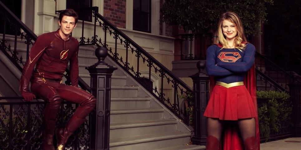 crossover flash supergirl - Supergirl / Flash : le crossover arrive le 28 mars supergirl the flash variety photoshoot gustin