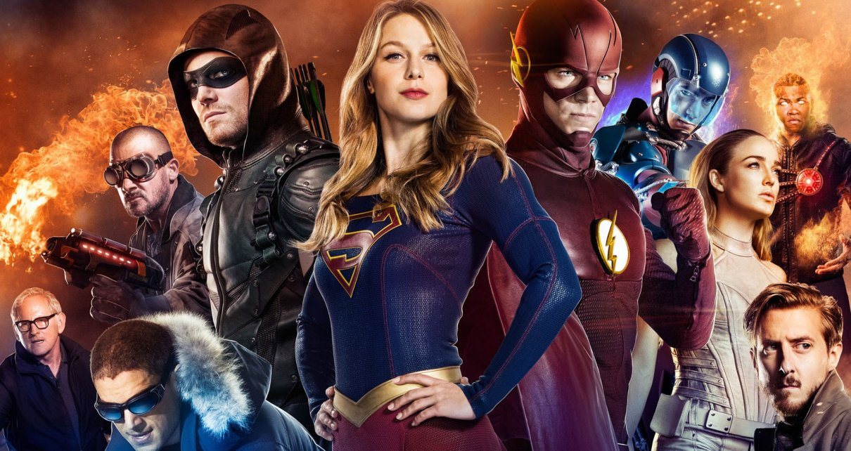 arrow - Supergirl affronte Flash et Arrow dans le Superhero Fight Club flash arrow supergirl