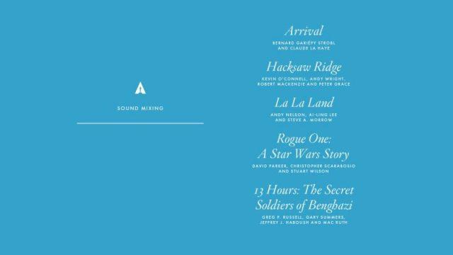 nominations - Oscars : 14 nominations pour La La Land NOMINATIONS oscars 1 11