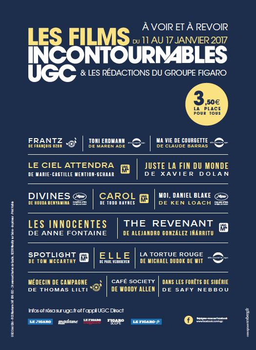 incontournables - Les films qui ont marqué l'année 2016 dans vos cinémas UGC