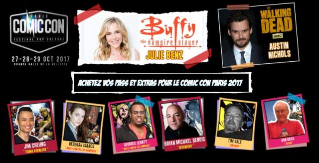comic-con paris - Julie Benz (Buffy) et Austin Nichols (Walking Dead) au Comic-Con Paris 2017 NYCC ComicNewsletter