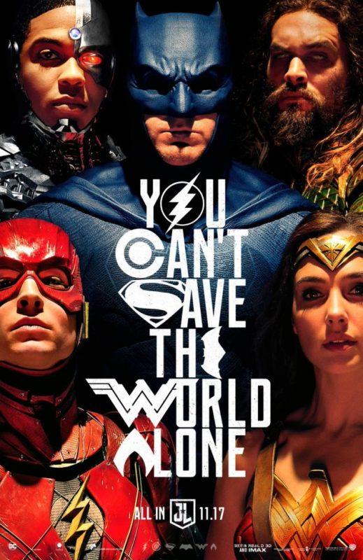 dc - Tous les trailers du Comic-Con 2017 ! justice league poster 664x1024