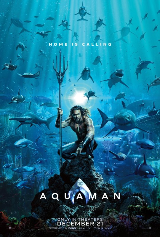 aquaman - Doctor Who tease, Les Razmokets reviennent et Aquaman s 'affiche aquaman poster 1122910