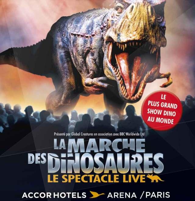 la marche des dinosaures - La Marche des Dinosaures de retour à l'AccorHotels Arena marche dinosaure