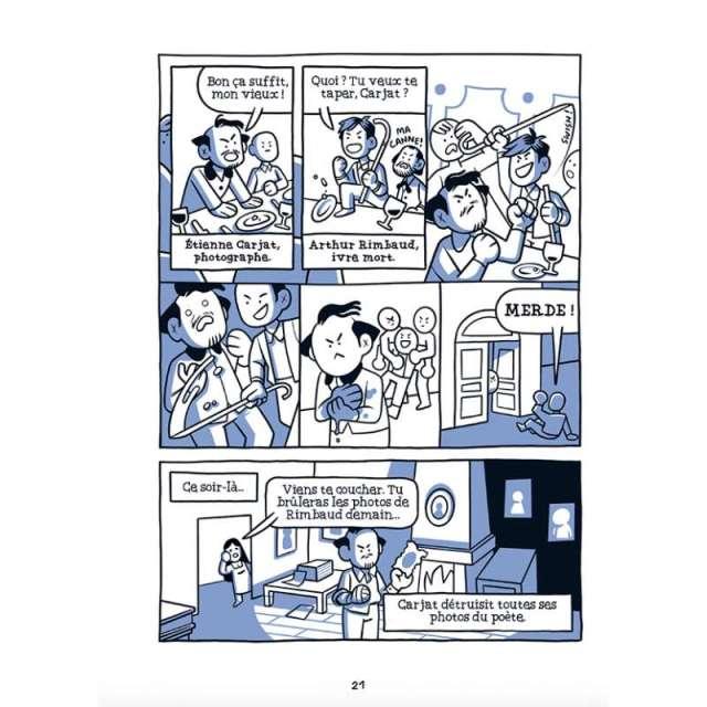 BD - Les Bons Gros Bâtards de la littérature : les auteurs classiques sans la classe les bons gros batards de la litterature rimbaud 2