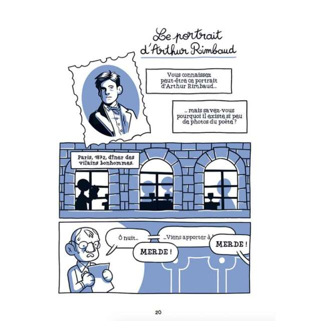 BD - Les Bons Gros Bâtards de la littérature : les auteurs classiques sans la classe les bons gros batards de la litterature rimbaud