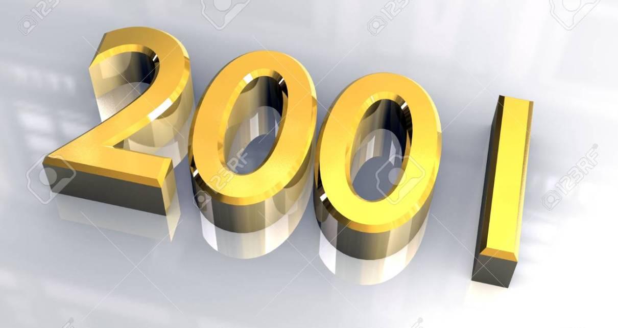2001 - Que s'est-il passé en janvier 2001 ? (Wikipedia, Eve Angeli, Le Pacte des Loups...) 4618947 annee 2001 en or 3d