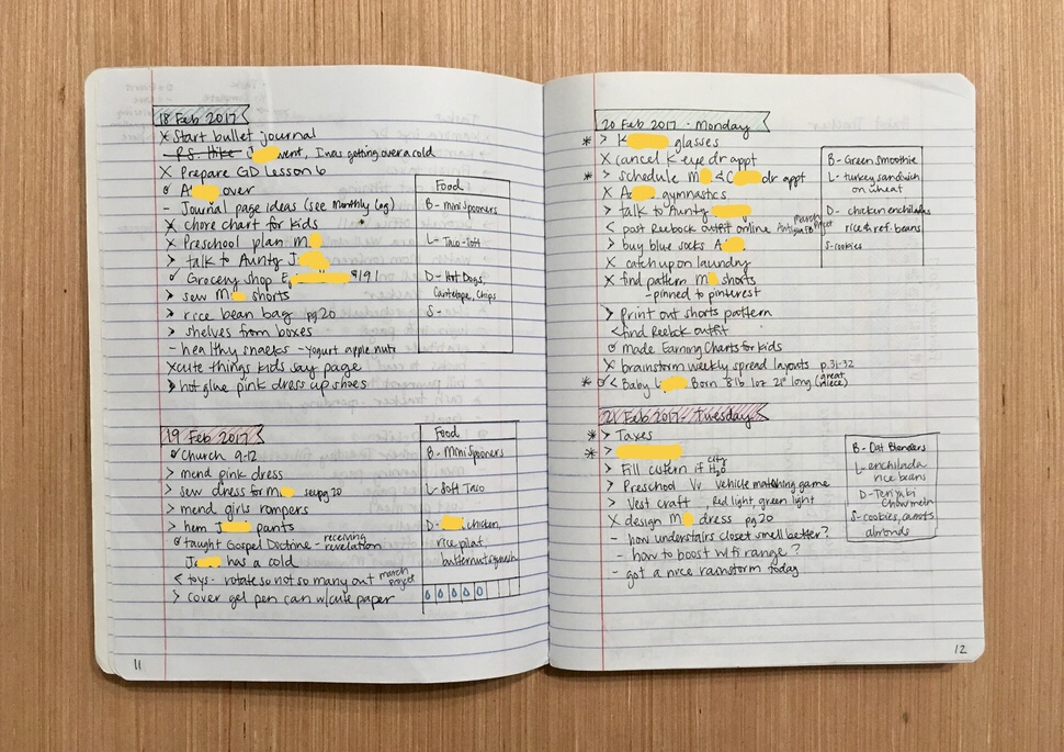 Using A Bullet Journal to Change Your Life - Daily Log