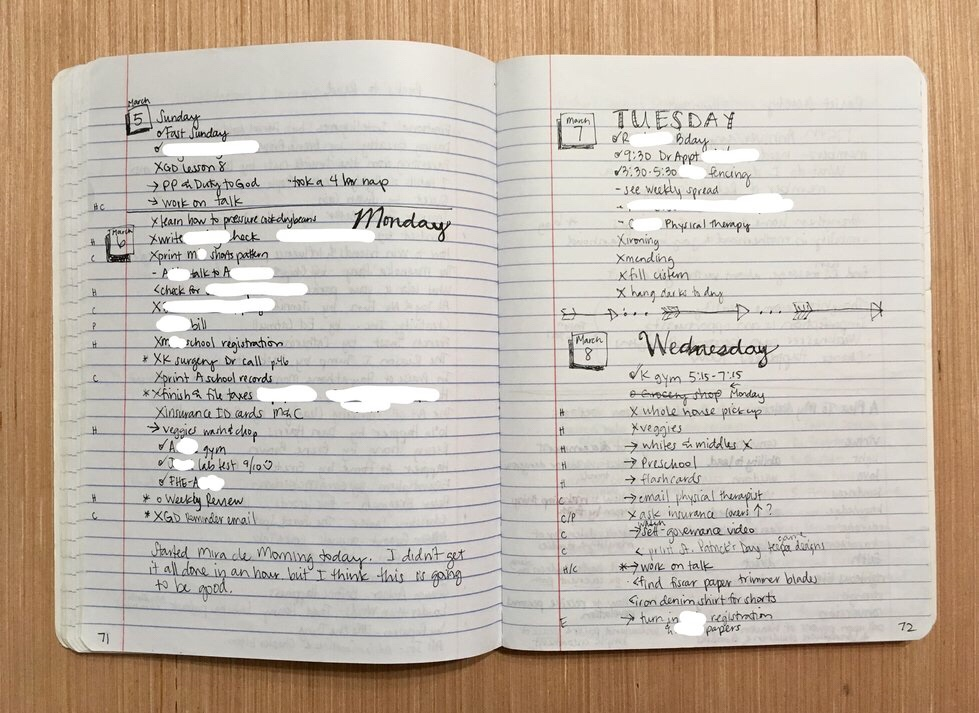 Using A Bullet Journal to Change Your Life - Daily Log 2