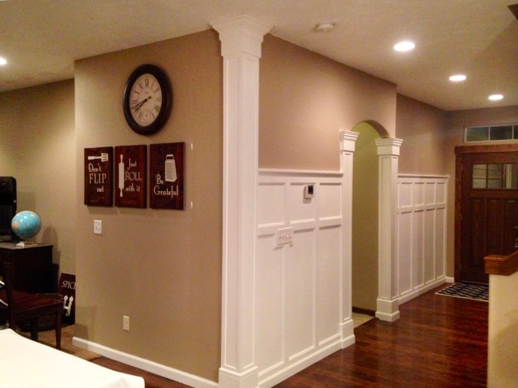 finished upgraded entryway