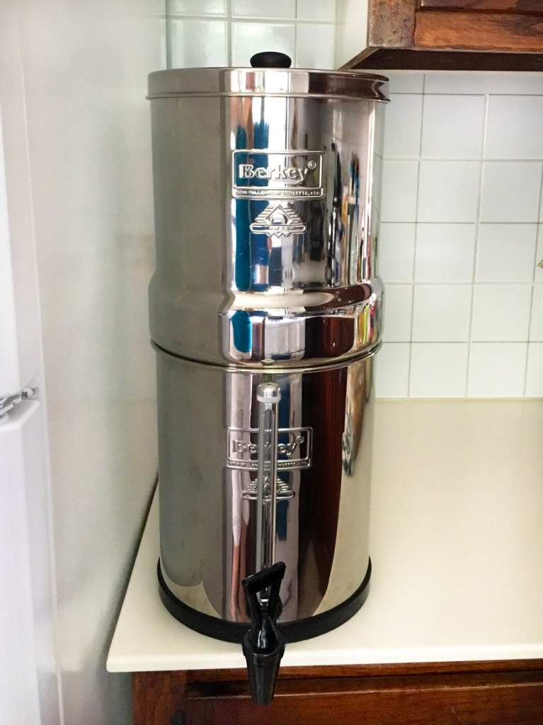 Berkey water filter tank
