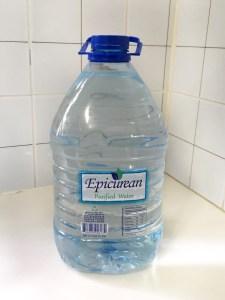 2 liters of water in plastic bottle