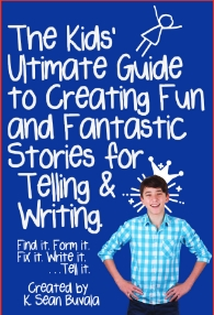 beta cover of the book to teach kids how to write great stories
