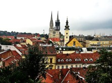 The view of Zagreb from above