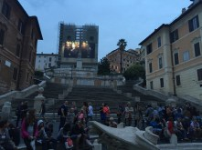 Piazza di Spanga, and steps that are currently closed