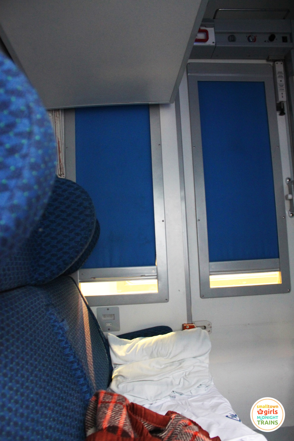 My slept-in berth on the Paris-Venice night train