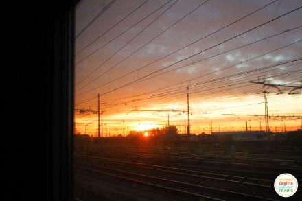 Sunrise over the tracks