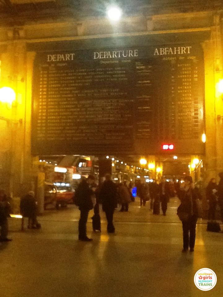 The quaint departures boards at Paris Gare du Nord