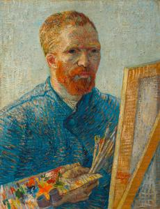 Self-Portrait as a Painter, 1887-1888 | Courtesy of the Van Gogh Museum