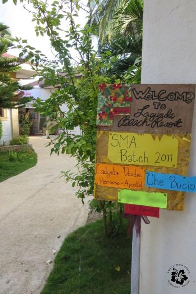 oslob_lagunde beach resort_welcome sign