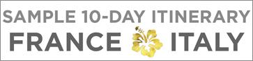 europe 10 days itinerary italy france