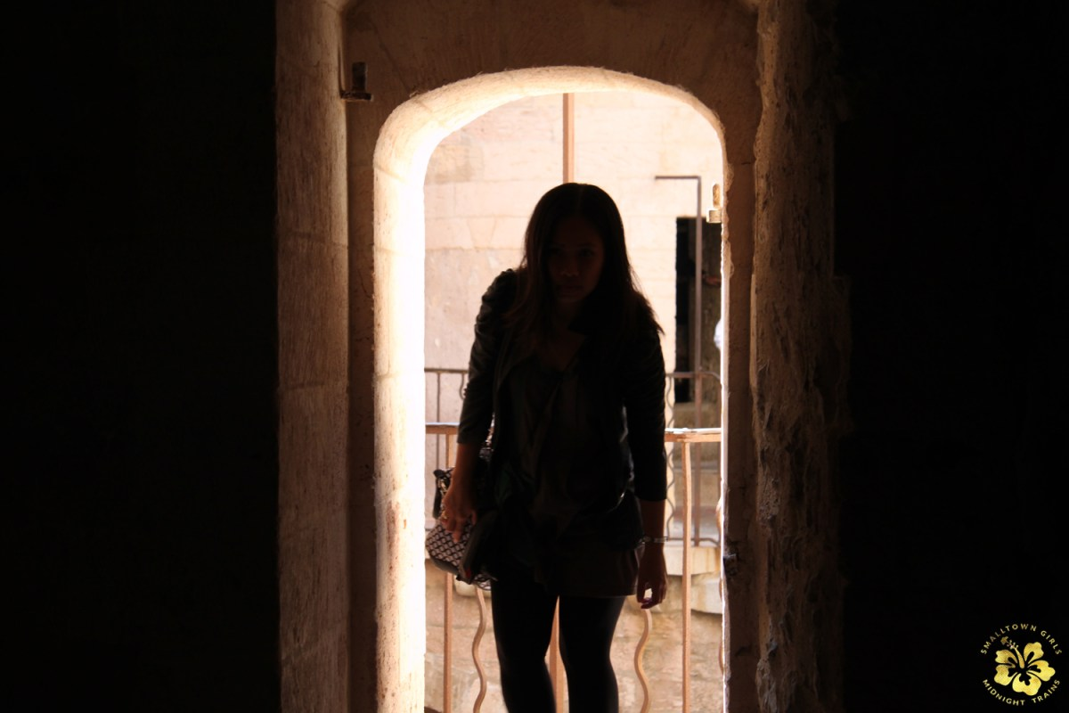 Entering one of the cells in Chateau d'If