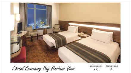 Hong Kong hotels - L'hotel Causeway Bay Harbour View