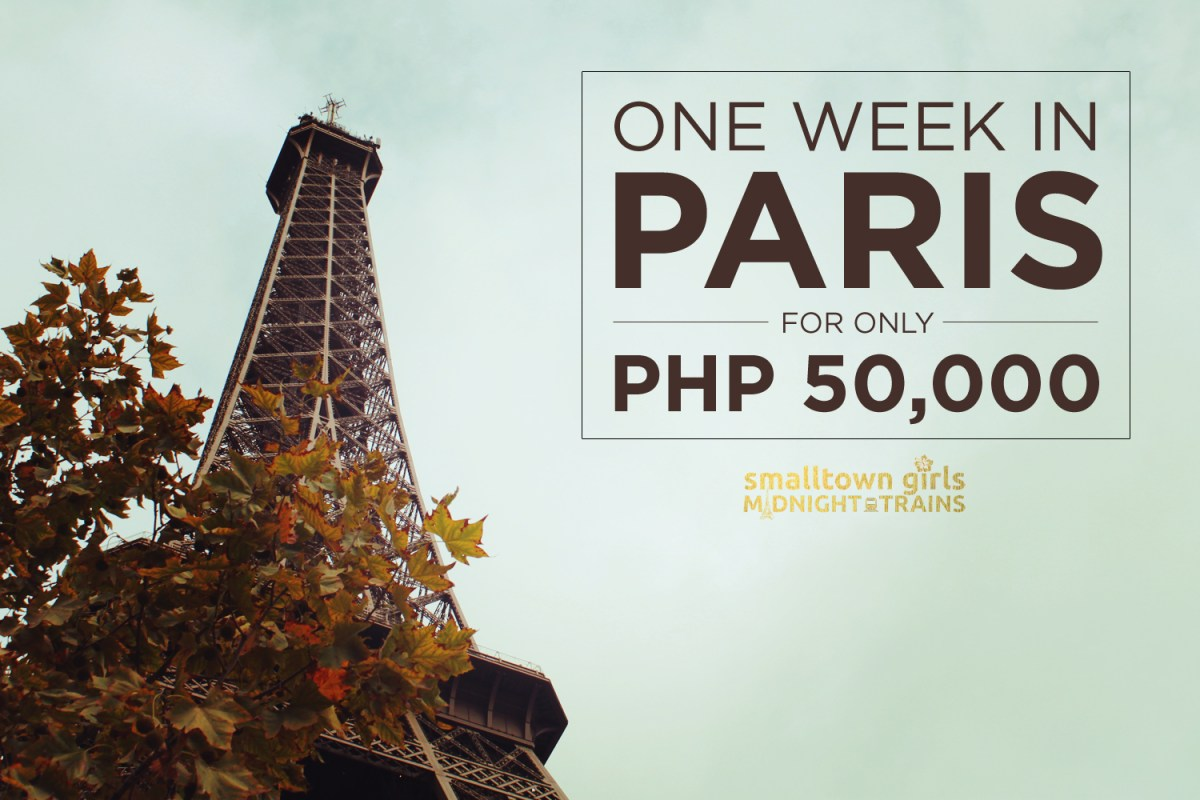 One week in Paris for only PHP 50,000