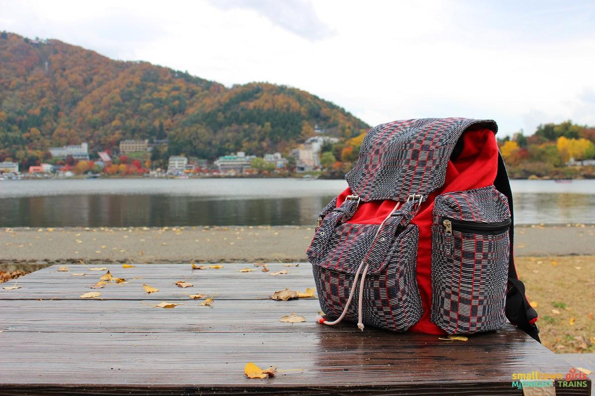 SGMT Japan Lake Kawaguchi 17 Lakeside and Northloom Miguee backpack