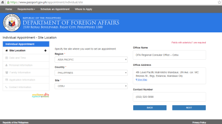 DFA Online Passport Application System in Cebu