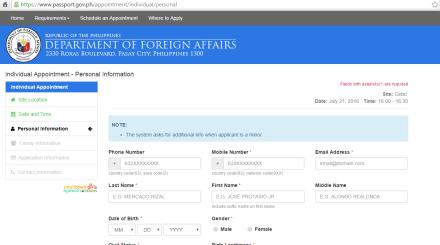 DFA Online Passport Application System in Cebu
