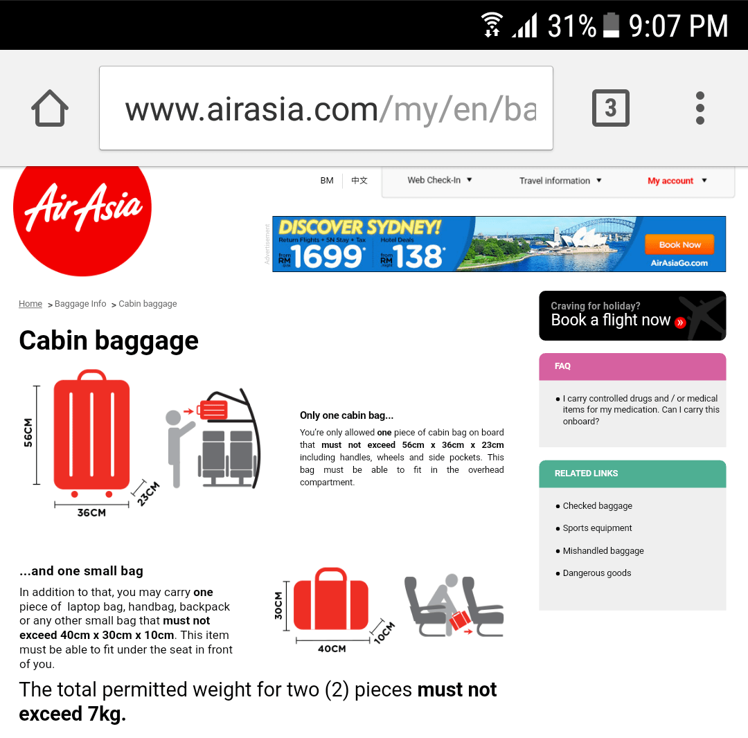7 Kg Plus Pal Cebu Pacific And Air Asia S Rules For