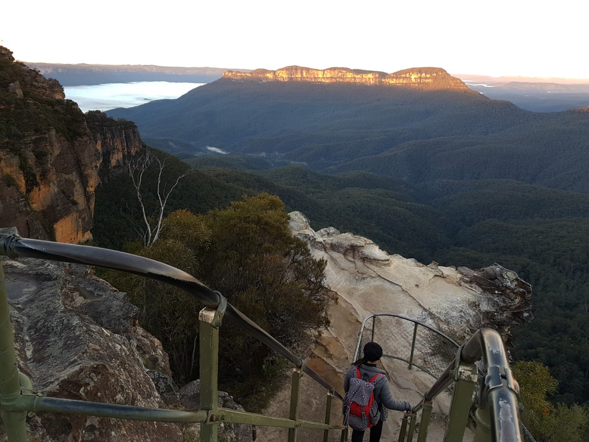 Blue Mountains Katoomba Sunrise at Lady Darley Lookout