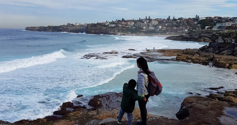 Seas, Skies, Cliffs + Kid: Our Bondi to Coogee Coastal Walk