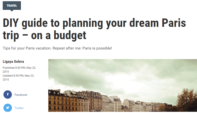 DIY guide to planning your dream Paris trip – on a budget