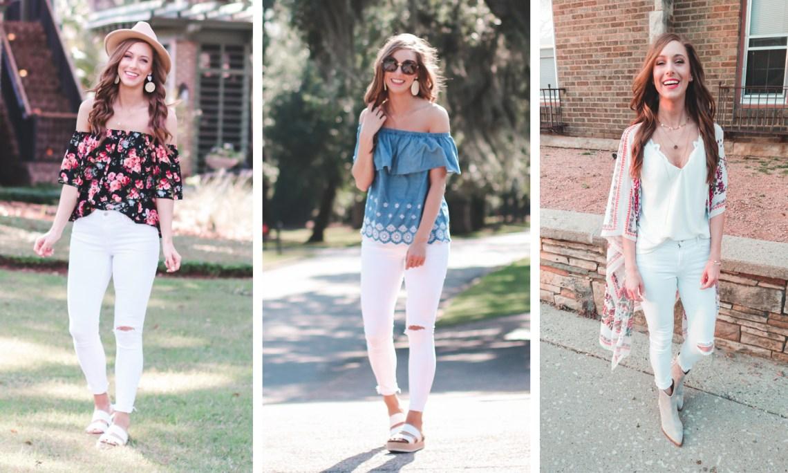 One Pair of White Jeans, 22 Ways! - Small Town In Stilettos