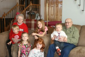 Great Granparents with their Great Grandchildren