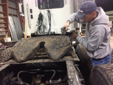 greasing a giant hitch