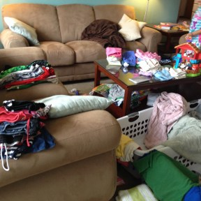 laundry with 3 kids