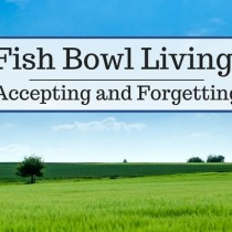 Fish Bowl Living:  Accepting and Forgetting