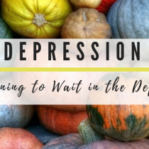Learning to Wait in the Depths of Depression, Part 3 of 4
