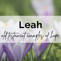 Old Testament Examples of Hope: Leah