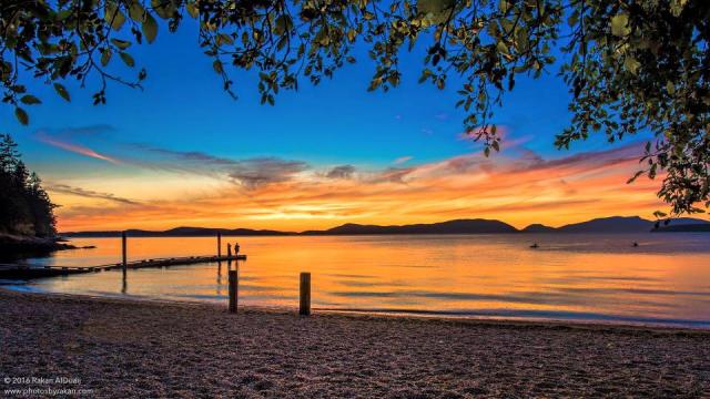 Anacortes sunset at Sunset Beach.